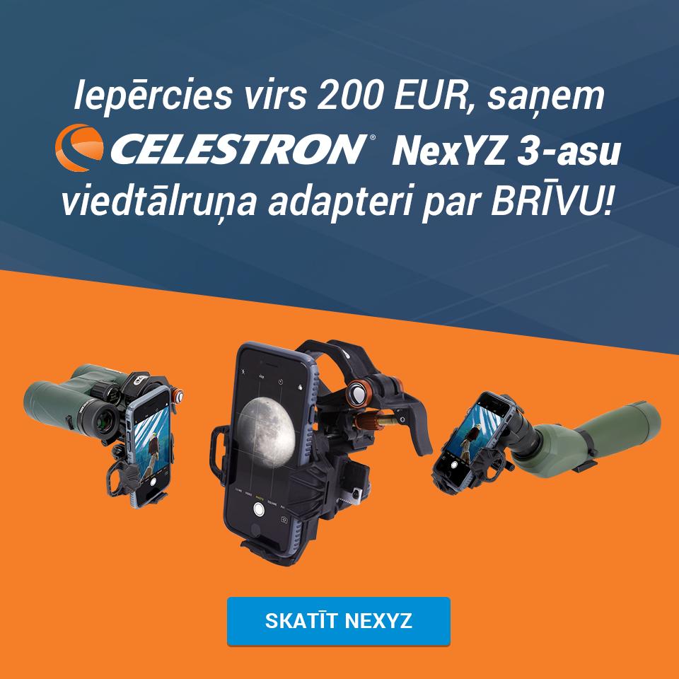 Celestron NexYZ 3-asu universāls telefona adapteris