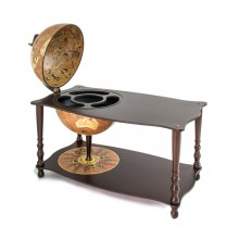 """""""Botticelli""""Coffee table with globe drinks cabinet-Rust"""