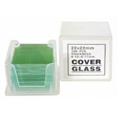 Bresser (100 gab.) 22x22 stikla slaidi
