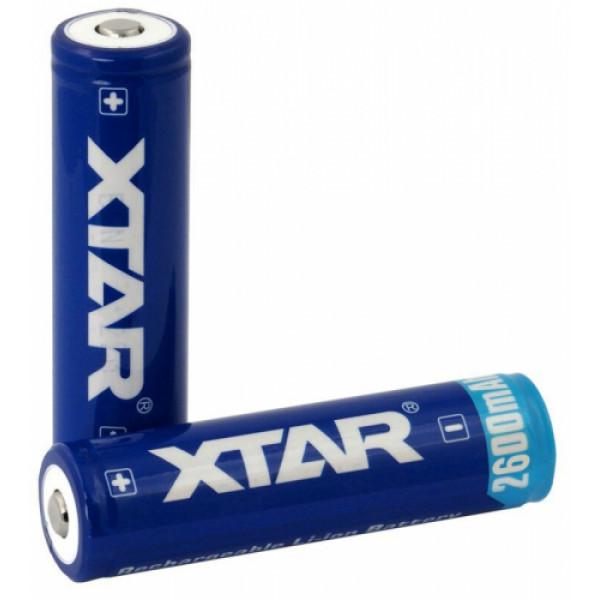 XTAR 18650 3.7V 2600mAh Li-ion akumulators