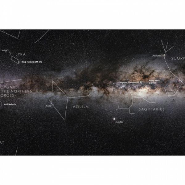 Astronomie-Verlag Piena Ceļa plakāts