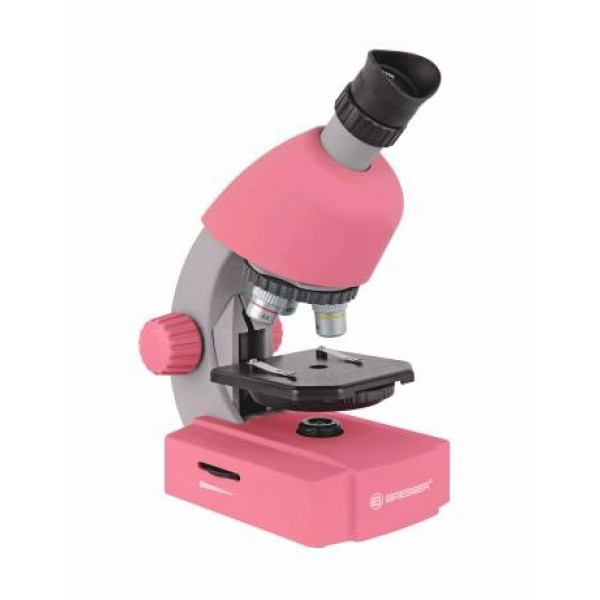 Bresser Junior 40x-640x mikroskops (rozā)